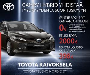 Uusi auto alle vielä tänä vuonna? Camry Hybrid Winter Pack 0€ - katso tästä lisää ja ota yhteys myyntiimme Toyota Kaivokselaan: ...