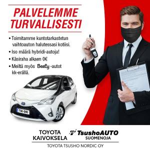Vielä tämä viikko aikaa hyödyntää vaihtoautojen tarjouksemme Toyota Kaivokselassa ja TsushoAUTO Suomenojalla www.tsushoauto.fi/a...