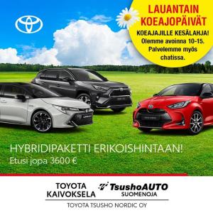 Heinäkuun ajan palvelemme automyynnissä klo 10.00 - 15.00. Tervetuloa autokaupoille!   Muutama nopean toimituksen uusi Toyota vi...