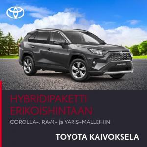 Tervetuloa tänään lauantainakin hyville autokaupoille Toyota Kaivokselaan! Hybridimallistoon huipputarjous, katso tarkemmin www...